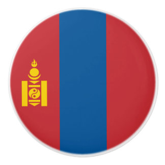Mongolia Flag Ceramic Knob