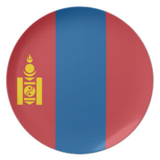 Mongolia Flag Dinner Plates