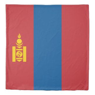 Mongolia Flag Duvet Cover