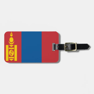 Mongolia Flag Luggage Tag