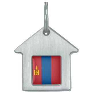 Mongolia Flag Pet Tags