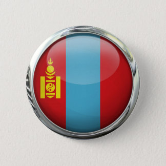 Mongolia Flag Round Glass Ball 2 Inch Round Button