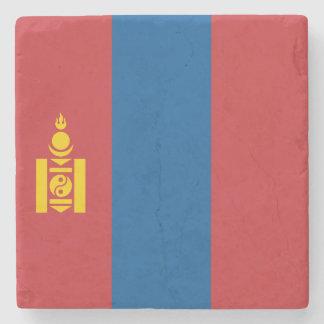 Mongolia Flag Stone Coaster