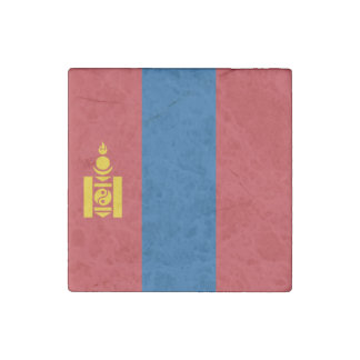 Mongolia Flag Stone Magnets