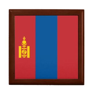 Mongolia Flag Trinket Boxes