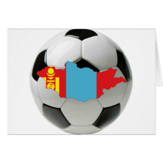 Mongolia football soccer card