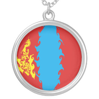 Mongolia Gnarly Flag Silver Plated Necklace