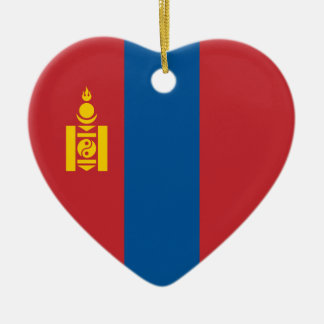Mongolia – Mongolian Flag Ceramic Ornament