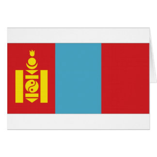 Mongolia National Flag Card