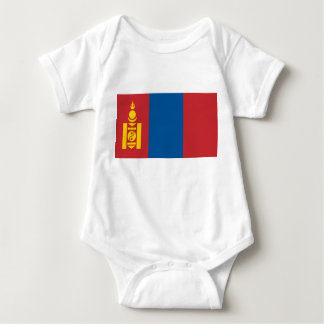 Mongolia National World Flag Baby Bodysuit