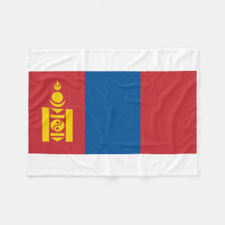 Mongolia National World Flag Fleece Blanket
