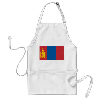 Mongolia National World Flag Standard Apron