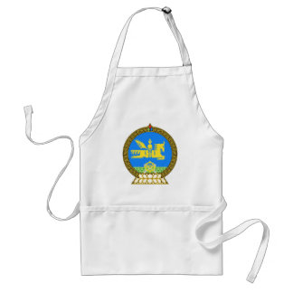 Mongolia Official Coat Of Arms Heraldry Symbol Adult Apron