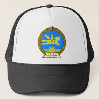 Mongolia Official Coat Of Arms Heraldry Symbol Trucker Hat