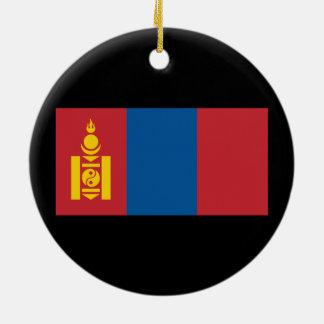 Mongolia Round Ceramic Ornament