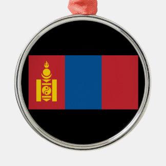Mongolia Silver-Colored Round Ornament