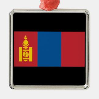Mongolia Silver-Colored Square Ornament