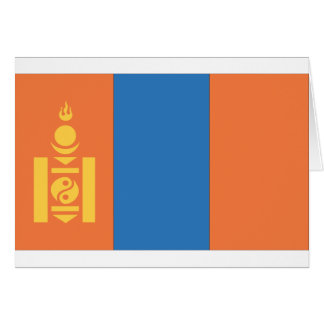 Mongolian Flag Card