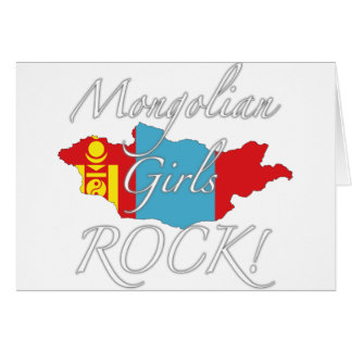 Mongolian Girls Rock! Card