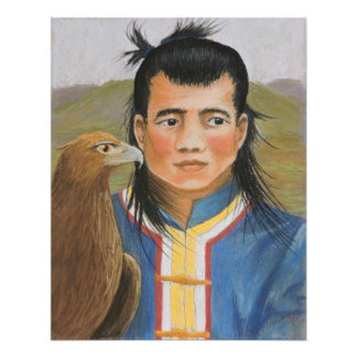 Mongolian Hunters Print