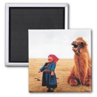 Mongolian memories2 square magnet