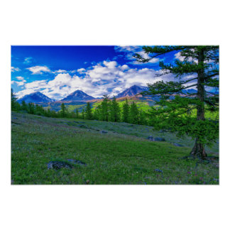 Mongolian Mountain Poster