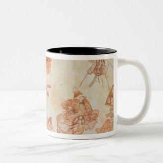 Mongolian nomadic camp, 15th century Two-Tone coffee mug