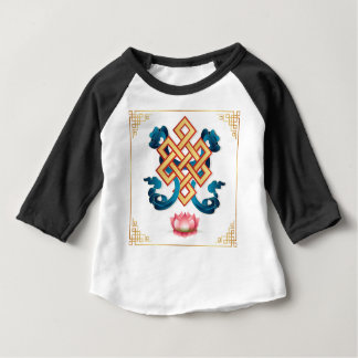 Mongolian religion symbol endless knot for decor baby T-Shirt