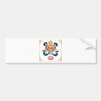 Mongolian religion symbol endless knot for decor bumper sticker