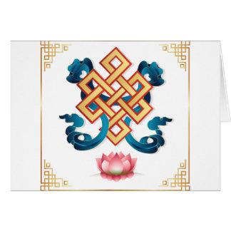 Mongolian religion symbol endless knot for decor card