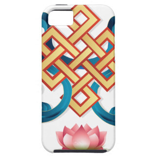 Mongolian religion symbol endless knot for decor iPhone 5 case