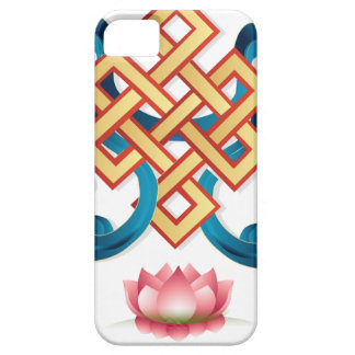 Mongolian religion symbol endless knot for decor iPhone 5 cases