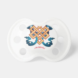 Mongolian religion symbol endless knot for decor pacifier