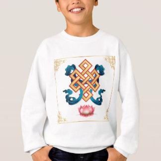 Mongolian religion symbol endless knot for decor sweatshirt