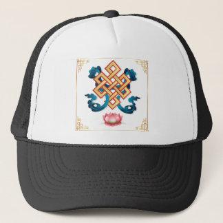 Mongolian religion symbol endless knot for decor trucker hat