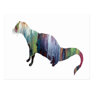 Mongoose art postcard