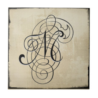 mongram 'M' tile