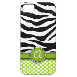Mongrammed Zebra Print iPhone 5 Case-Mate