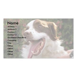 Mongrel dog business card
