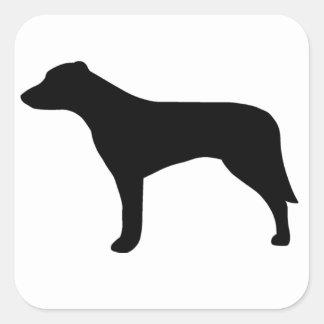 Mongrel Dog Square Sticker