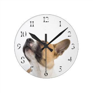 Mongrel puppy wall clock