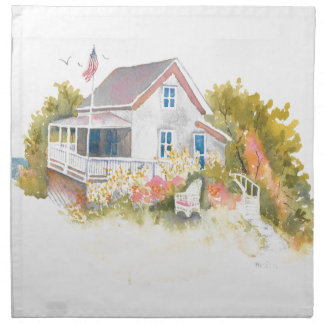 Monhegan Cottage J Kilburn Napkin