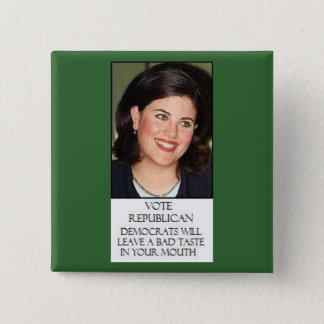MONICA FOR REPUBLICANS 2 INCH SQUARE BUTTON