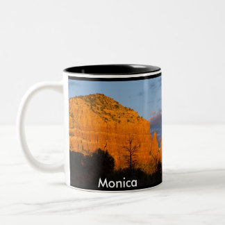 Monica on Moonrise Glowing Red Rock Mug
