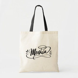Monica - Personalized calligraphy name tote bags