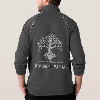 Moning Maniacs Fleece Track Jacket (white on grey)
