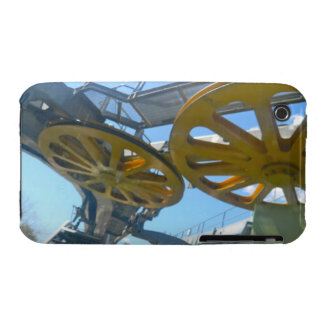 Monjuic Cable Car Gears, Aerial Tramway, Barcelona iPhone 3 Cover