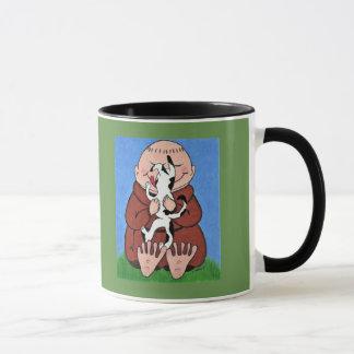 Monk and dog mug