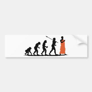 Monk Car Bumper Sticker