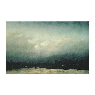 Monk by sea, 1809 canvas print
